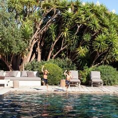 low key - CA landscape style materials used @  Patrick Dempsey's Welcoming Malibu Home : Architectural Digest