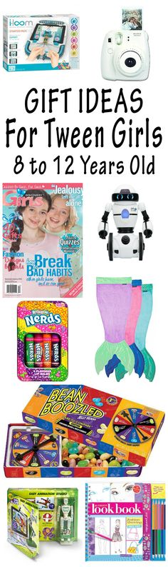Lots of great gift ideas for tween girls 8 to 12 years old!