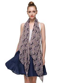 Whippet dog breed print scarves printed ladies fashion womens shawl