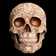 Crâne ou tête de mort à fleurs : décoration / vanité / curiosité / calavera - Edemonium
