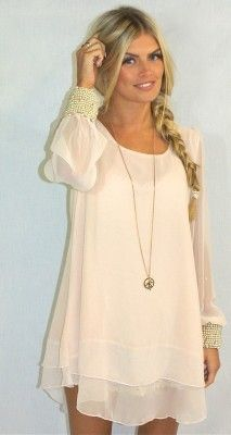 I'd wear this if it were a bit longer. Love the chiffon, flowy look for summer