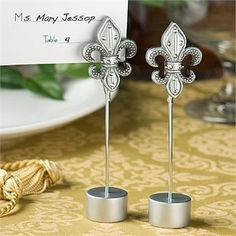 Bring A Taste Of Ility To Your Special Day With These Elegant Fleur De Lis Place Card Holders Each Table Number Holder Consists
