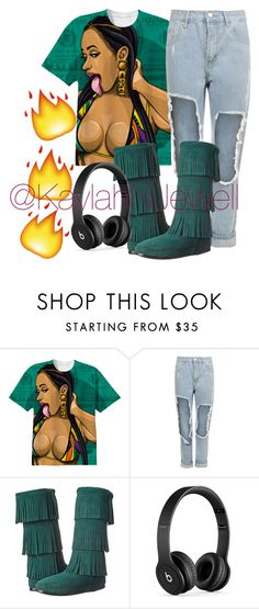 cardi b outfit by kaylahnjewell on polyvore featuring wearall minnetonka and beats