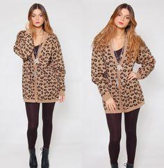 vintage 80s mohair patchwork LEOPARD fur SNAKESKIN boho animal ...