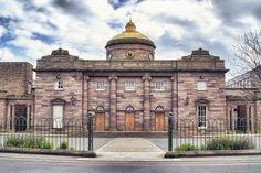 "© Jack Stott from http://www.fullmanualarchivist.com    Angus, Montrose, ""Montrose Academy"", Scotland, academy, brick, building, clock, clouds, dome, gold, golden, metal, metallic, parking, school, ""secondary school"", sky, time, Jack Stott, Full Manual Archivist"
