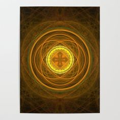 """Banish those blank walls: Posters are the most convenient way to bring rad art to your space. We print each design on smooth gloss paper for sharp, high-quality images and super vibrant colors. Hang them up with thumbtacks or putty, or craft a cool DIY frame. - One size: 18"""" (W) x 24"""" (H) - Printed on 100lb smooth gloss paper Fold Envelope, Diy Frame, Folded Cards, Cool Diy, High Quality Images, Fractals, Vibrant Colors, Glow, Stationery"""