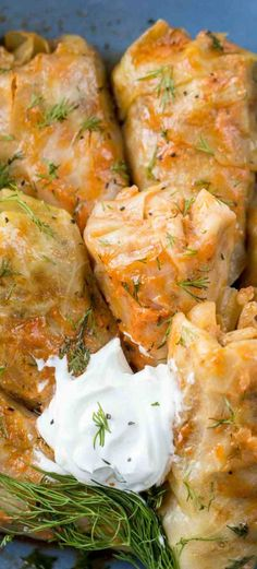 Cabbage Rolls Recipe – Valentina's Corner A classic Russian comfort food recipe. Stuffed cabbage recipe, cabbage leaves stuffed with rice, meat, and veggies in a delicious sauce. Entree Recipes, Beef Recipes, Dinner Recipes, Cooking Recipes, Healthy Recipes, Ukrainian Recipes, Jewish Recipes, Russian Recipes, Ukrainian Food