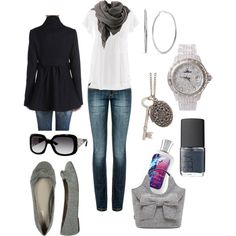classy comfy.... running around town and lunch...