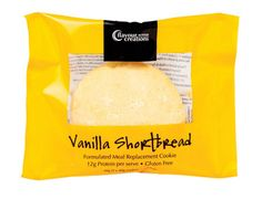 Flavour Creations packaging design. Product Formulated meal replacement cookies - Vanilla Ahortbread.