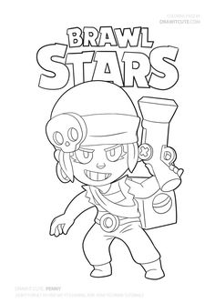 Penny from Brawl Stars Chibi Coloring Pages, Train Coloring Pages, Online Coloring Pages, Printable Adult Coloring Pages, Cute Coloring Pages, Boy Coloring, Coloring Books, Free Coloring, Star Wars Xbox One
