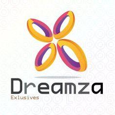 Dreamza 3D abstract,  logo