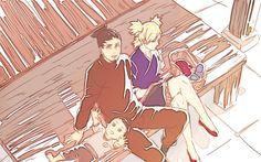 Shikamaru and Temari with Shikadai Shikadai, Shikatema, Temari Nara, Shikamaru And Temari, Naruto Shippudden, Boruto Naruto Next Generations, Family Picnic, Funny Couples, Manga Comics