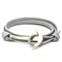 New Arrival Retro Bracelets Fashion Jewelry 40cm Leather Bracelet Men Anchor Bracelets For Women Best Gift #braceletsfor