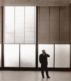 Mies Van der Rohe two-toned symmetrical window lighting
