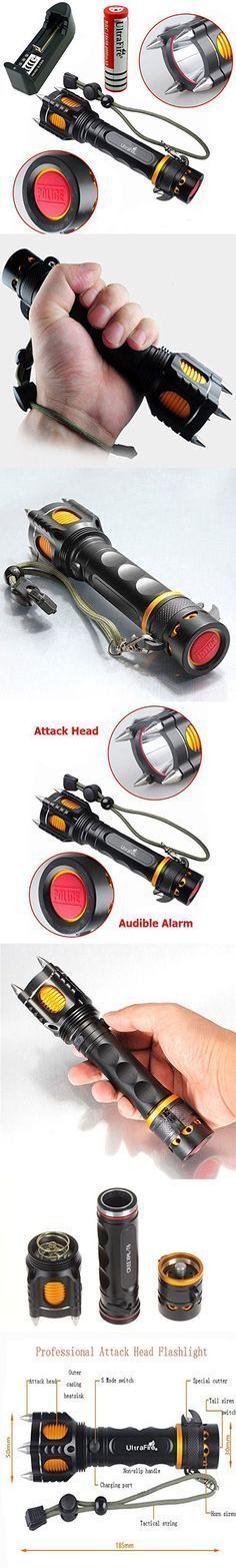 Tactical Self Defense Flashlight:: I've never been afraid of a flashlight before… Seriously, this would give anybody a confidence boost when walking alone late at night. Easily the meanest looking torch I've ever seen.