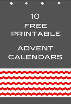 free printable DIY advent calendars – links – kostenlos ausdruckbare Adventskalender | MeinLilaPark