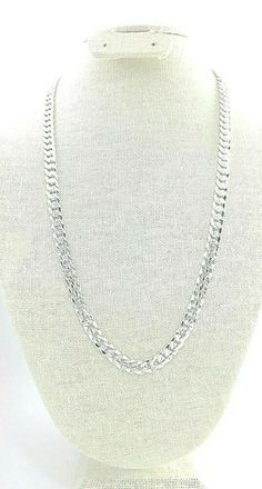 """Men's 10mm Miami Cuban curb chain necklace 24"""" textured sterling silver plated #Unbranded #MiamiCubanCurbChain Beaded Necklace, Necklaces, Pendant Necklace, Bracelets, Hip Hop Chains, Men's Jewelry, Cuban, Silver Plate, Miami"""