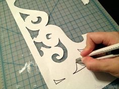 Create a template for making your own corbels! {Sawdust and Embryos}