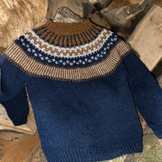 Strikkeopskrift - Lille Ebbe og Else Supersoft - køb online hannelarsenstrik. Fair Isle Knitting, Baby Knitting Patterns, Men Sweater, Pullover, Wool, Barn, Elsa, Sweaters, Collection
