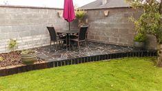 Curved Black Limestone Paving and Planting, Tom Leavy Design, Leavy Landscaping.ie 59 Landscape Design, Garden Design, Limestone Paving, Ireland Landscape, Planting, Garden Landscaping, Construction, Outdoor Decor, Black