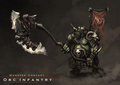 Concept : an orc infantry by reaper78.deviantart.com on @deviantART