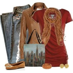 Casual Fall Outfit Set by Cindy Cook on Polyvore!!!