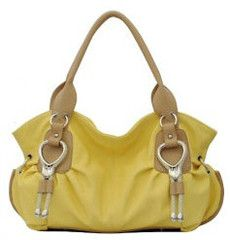 """**Coupon Code!** This darling yellow handbag is only $36.60, PLUS get 10% off your entire order AND free shipping with discount code """"SAVE10"""" at checkout!"""
