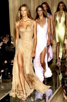 especially love the gold dress in the front and the green/gold in the back