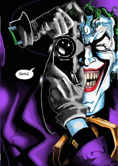 BATMAN: THE KILLING JOKE by Alan Moore. One bad day. According to the grinning engine of madness and mayhem known as The Joker, that's all that separates the sane from the psychotic. Freed once again from the confines of Arkham Asylum, he's out to prove h Joker Comic, Joker Batman, Joker Y Harley Quinn, Joker Iphone Wallpaper, Joker Wallpapers, Tiger Wallpaper, Iphone Wallpapers, Personnage Dc Comics, Joker Kunst