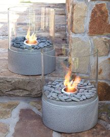 love these small outdoor firepits