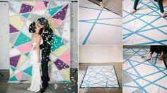 Decor DIY Photobooth géométrique