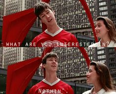 """Ferris Bueller's Day Off """"Well what are you interested in?"""" """"Nothing"""" ☆☆☆ I think this movie says don't expect to FIND your place in life >>> MAKE IT ☆☆☆ 1980s Films, 80s Movies, Iconic Movies, Great Movies, Love Movie, Movie Tv, Ferris Bueller Quotes, Save Ferris, Beautiful Tumblr"""