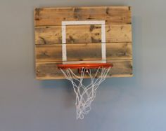 Custom reclaimed wood basketball hoop by IndustrialDesignsByB