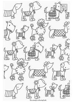 adult difficult dogs elegants coloring pages printable and coloring book to print for free. Find more coloring pages online for kids and adults of adult difficult dogs elegants coloring pages to print. Dog Coloring Page, Easy Coloring Pages, Animal Coloring Pages, Printable Coloring Pages, Coloring Sheets, Coloring Books, Doodle Coloring, Doodle Drawings, Doodle Art