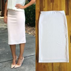 🔸The Charlotte Pencil Skirt🔸     🔸The Charlotte skirt is everything you want it to be and more. This stunningly classic pale pink pencil is textured and lined so it's basically perfect. The flawless pink tone goes with almost any color! Trust us, it's one of the all-time favs.     🔸$18 shipped    🔸Fit is a little snug. If you're in between sizes go up one size.     🔸To purchase comment SOLD and your PayPal email address + your size OR leave your email and we will send you a checkout…
