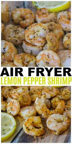 Air Fryer Lemon Pepper Shrimp are easy, healthy and delicious. This is also a We… Air Fryer Lemon Pepper Shrimp are easy, healthy and delicious. This is also a Weight Watchers friendly recipe with only 1 Freestyle point per serving. Air Fryer Oven Recipes, Air Frier Recipes, Air Fryer Dinner Recipes, Air Fryer Recipes Shrimp, Recipes Dinner, Lunch Recipes, Air Fryer Recipes Appetizers, Dessert Recipes, Drink Recipes