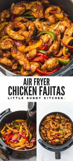 Air Fryer Oven Recipes, Air Frier Recipes, Air Fryer Dinner Recipes, Easy Dinner Recipes, Air Fryer Chicken Recipes, Easy Dinners, Air Fryer Recipes Mexican, Air Fryer Rotisserie Recipes, Easy Meals For Dinner