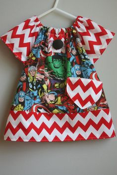 Size 6 to 9 months......Super Hero by LevonaDanielle on Etsy, $20.00