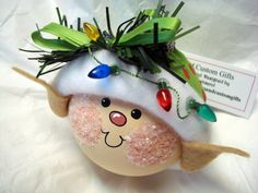 Elf+Ornament+Christmas+Tree+Bulb+Hand+by+TownsendCustomGifts,+$16.95