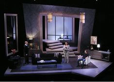 The Goat, or Who Is Sylvia? Rep Stage. Scenic design by Daniel Ettinger.