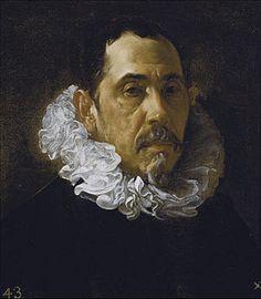 Velázquez: - Retrato de caballero', atribuido a Francisco Pacheco, su maestro, pero posiblemente fue pintado por su alumno. (Museo del Prado, c. 1622).jpg