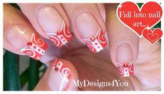 Red Nails | White and Red French Tip Nail Art ♥ Красный Дизайн Ногтей