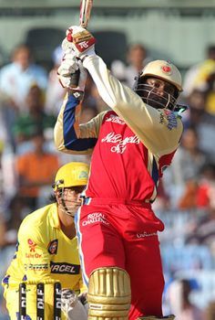 #ChrisGayle, #ViratKohli power Royal Challengers Bangalore to 205 against Chennai Super Kings---- Chennai: Apr 12, 2012     Chris Gayle and Virat Kohli stitched a 162-run partnership as Royal Challengers Bangalore (RCB) reach a mamoth total of 205 in their allotted 20 overs against Chennai Super Kings (CSK) in their IPL 2012 match at Chennai on Thursday.
