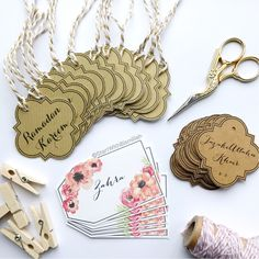 Floral+Gift+Tags+-+Pack+of+6, £4.00