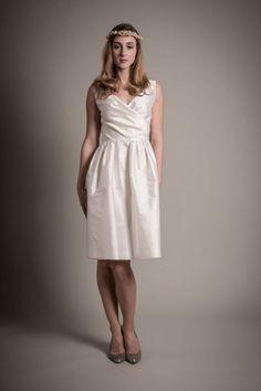 O vestido de noiva certo para vossa cerimónia civil. Modelo Constance, Au Fil d´Elise.
