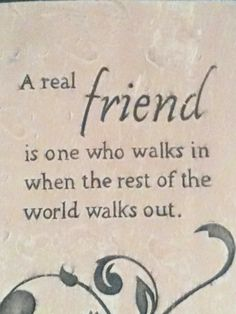 A real friend is..