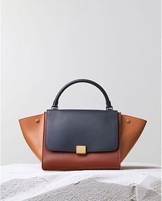CÉLINE | Fall 2014 Leather goods and Handbags collection | CÉLINE trapeze navy multi colour