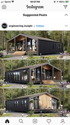 Tiny House Cabin, Tiny House Design, Modern House Design, Barn House Plans, Small House Plans, Metal Building Homes, Building A House, Building A Container Home, Container Homes