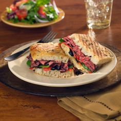 Tuscan Grilled Panini Certified Hereford Beef!  What could be better?