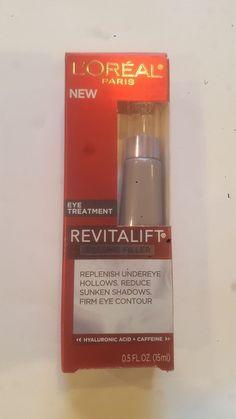 Loreal revitalift volume filler eye treatment replenish undereye hollows 0.5 oz